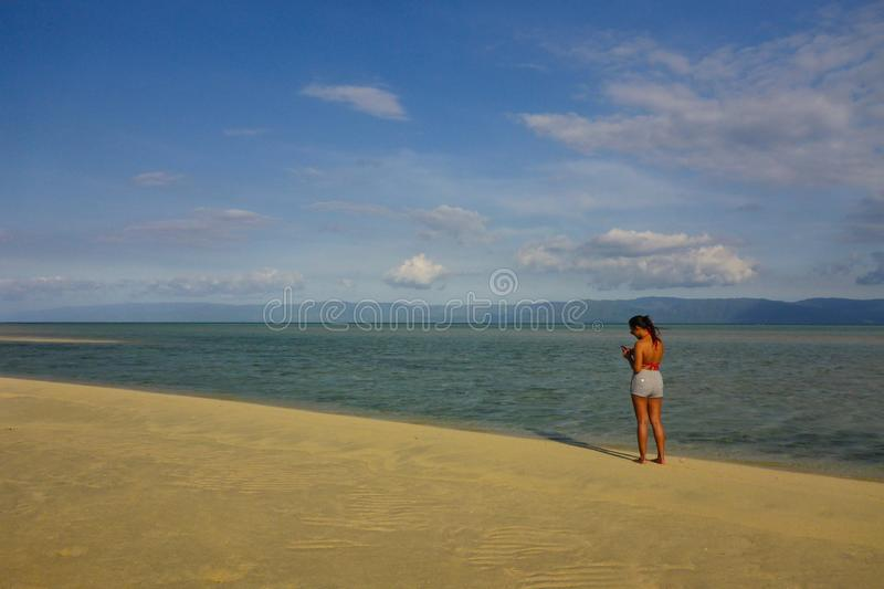 Find a Place To Get Lost In, Manjuyod Sand Bar, Dumaguete royalty free stock photo