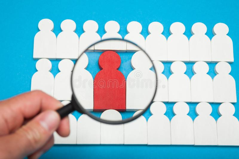 Find right employee, people job talent royalty free stock photography