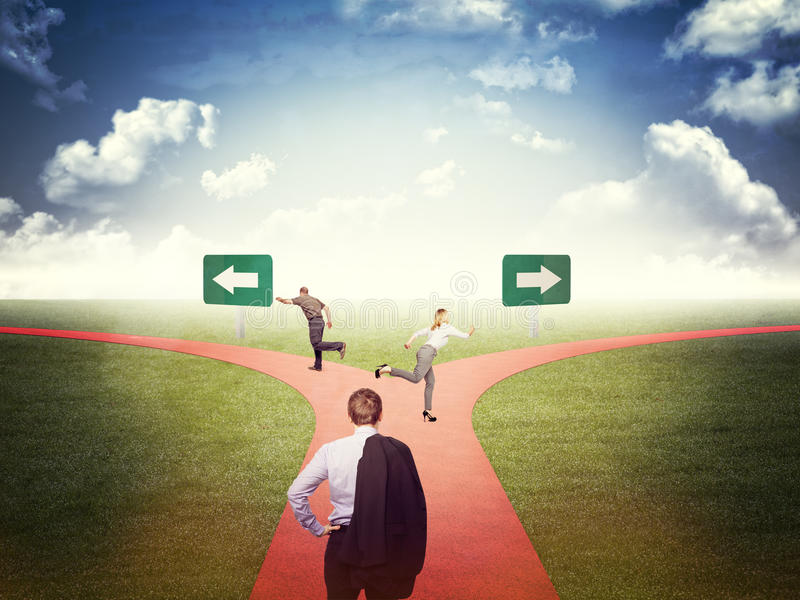 Find the right way stock illustration