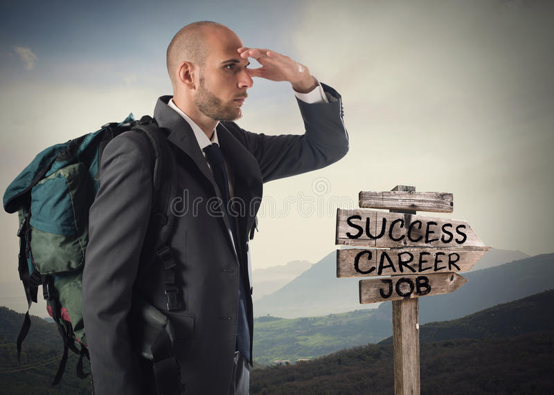 Find the road to business success stock images