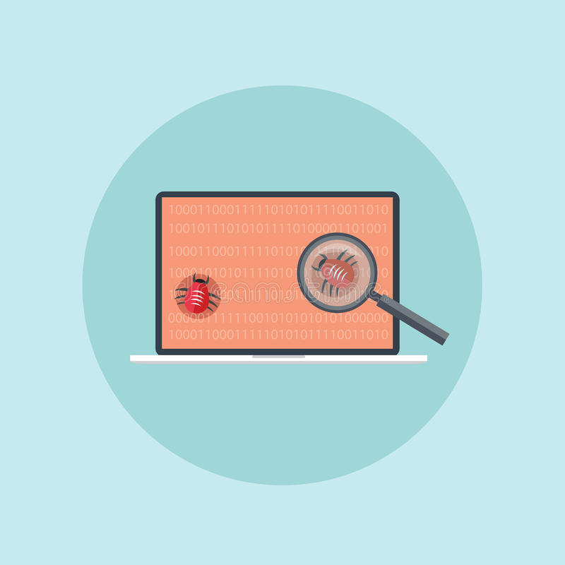 Find security hole attack stock illustration