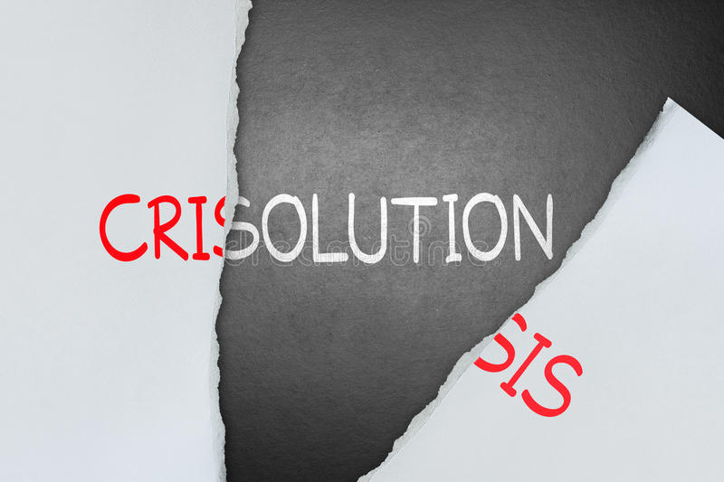 Find solution for crisis stock image