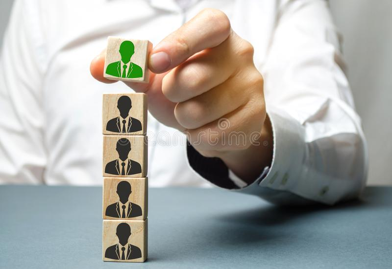 Find a talented employee. Businessman searching for new employees. Staff recruitment. Select a person in the team. Attracting. People to work. Human Resource royalty free stock photography