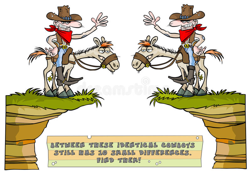 Find the ten differences game. vector illustration