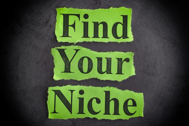 Find Your Niche stock photography
