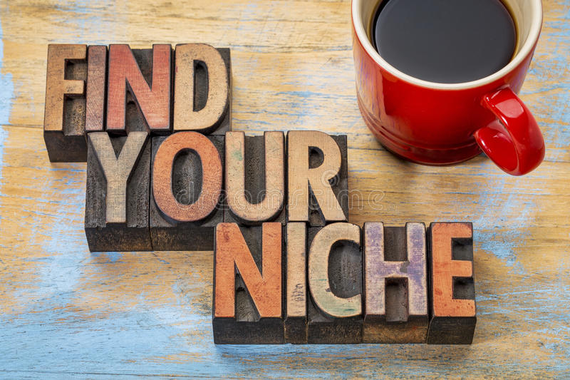 Find your niche word abstract stock photos