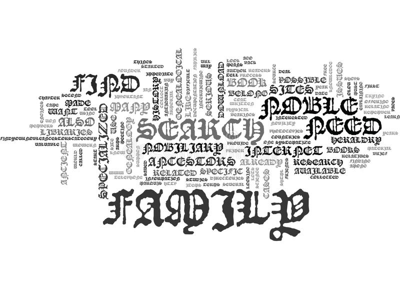 Find Your Noble Ancestors Text Background Word Cloud Concept stock illustration