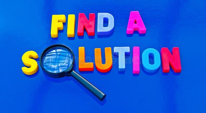 Finden Sie eine Lösung lizenzfreie stockbilder