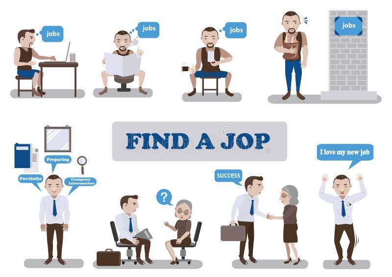 Finden Sie einen Job vektor abbildung