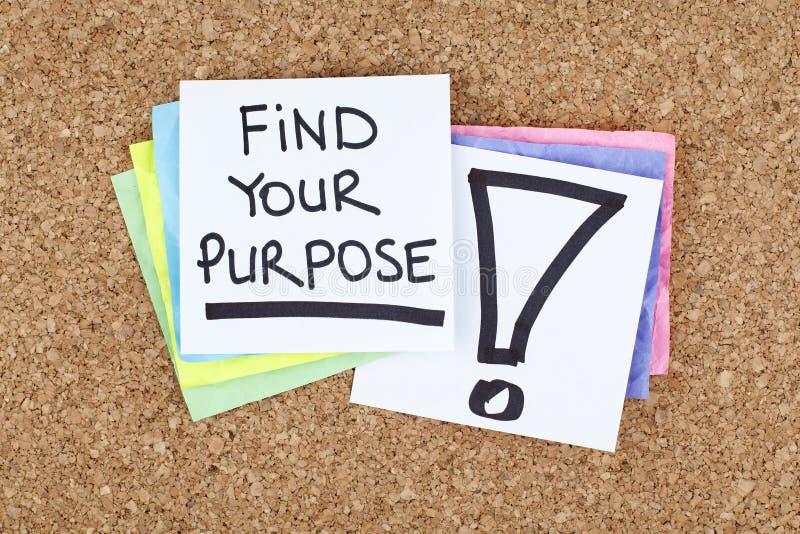 Finden Sie Ihren Zweck/Traum-Aspirations-Ziele stockbilder