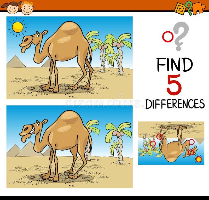 Finden Sie pädagogische Aufgabe der Unterschiede stock abbildung