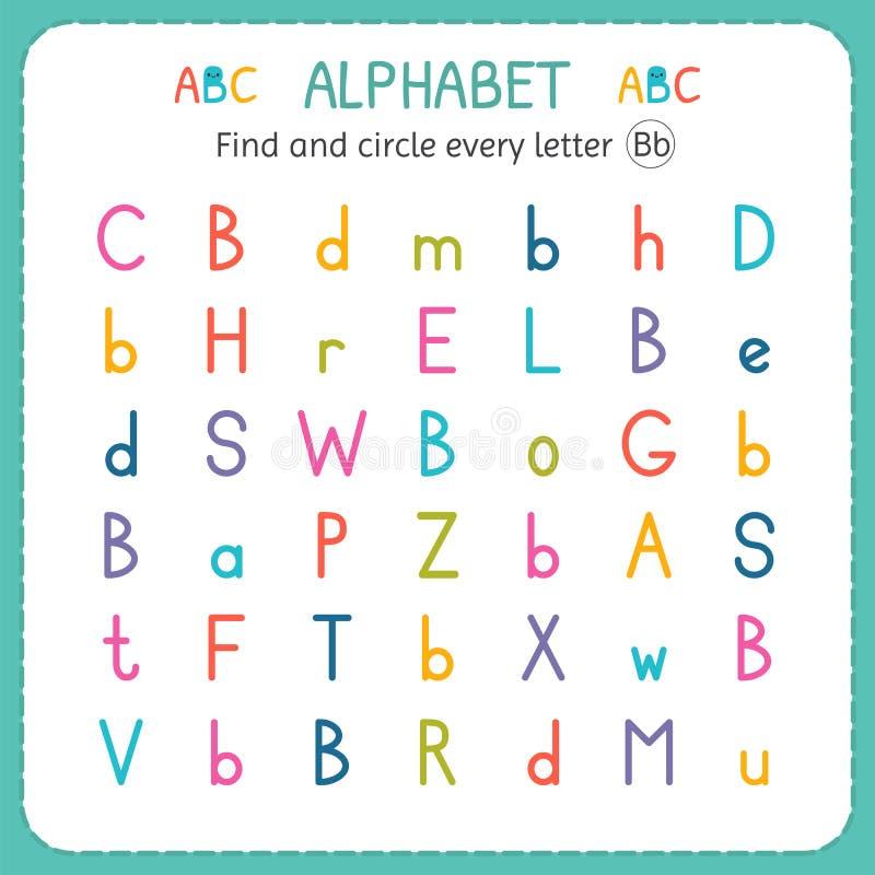 Finden Sie Und Kreisen Sie Jeden Buchstaben B Ein Arbeitsblatt Für ...