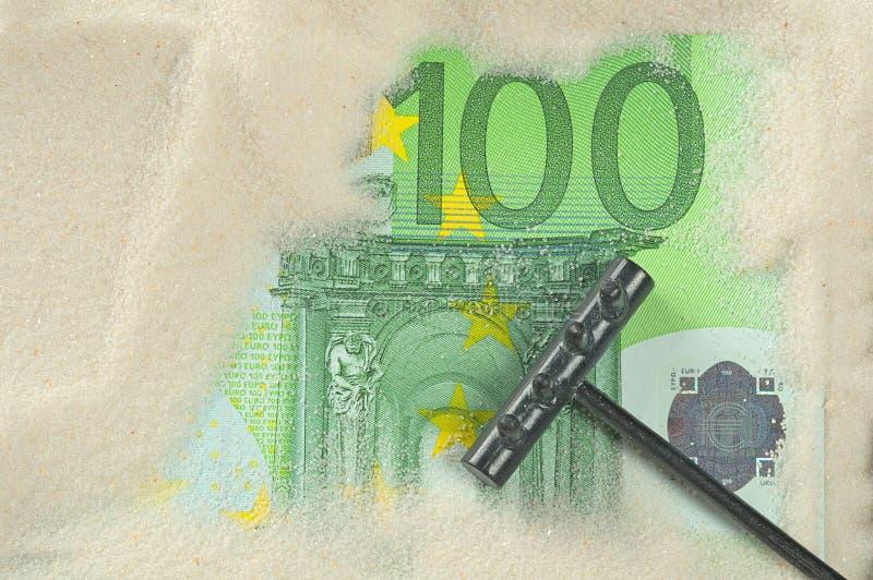 Download Finding hundred euros stock image. Image of money, white - 22879359