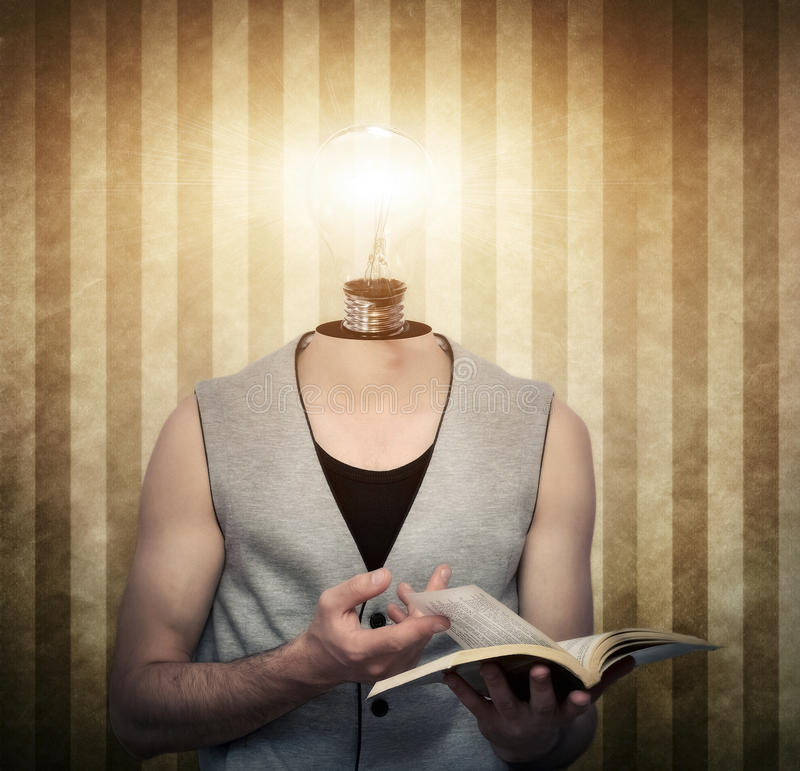 Finding ideas in dark moments royalty free stock photo