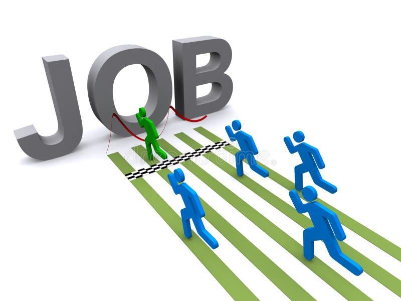 Finding a Job vector illustration