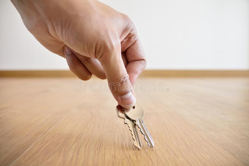 Finding the keys royalty free stock image