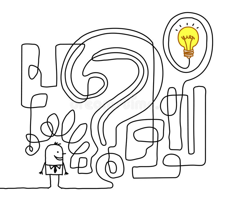 Finding the solution royalty free illustration