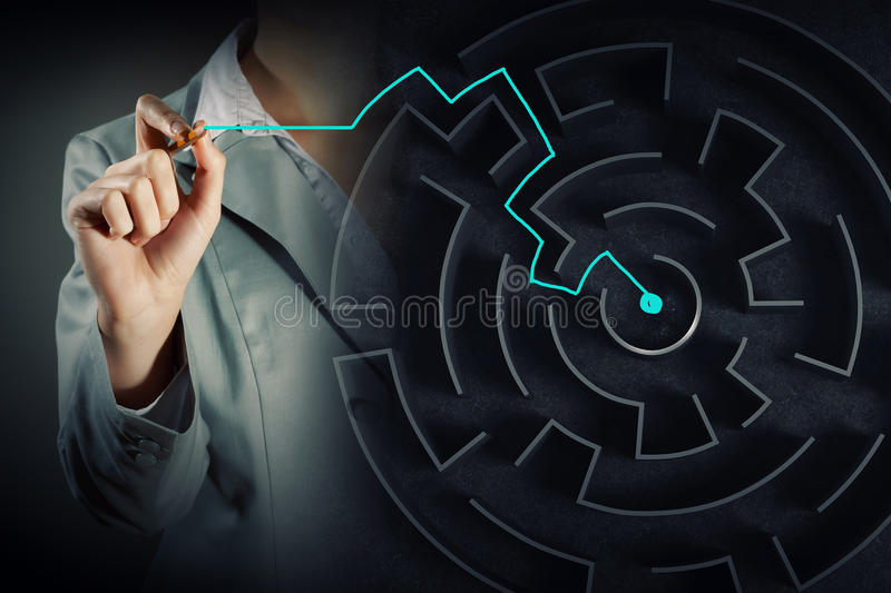 Finding solution royalty free stock photo