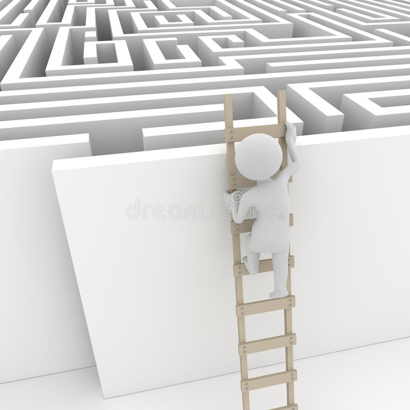 Download Finding a solution stock illustration. Image of climb - 30520937