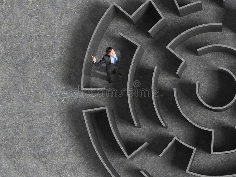 Finding the solution stock photos