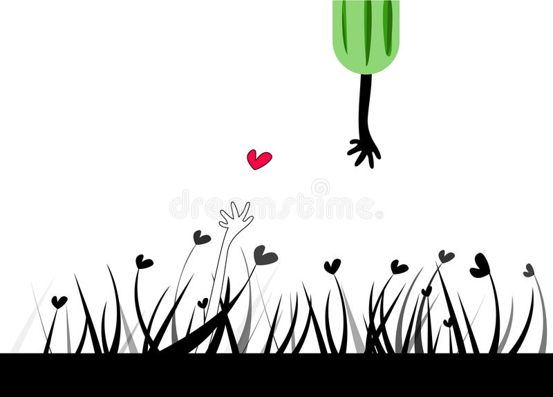 Download Finding your true love stock vector. Illustration of leaf - 15177902