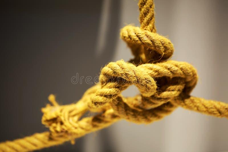 Fine aggrovigliata della corda su fotografie stock