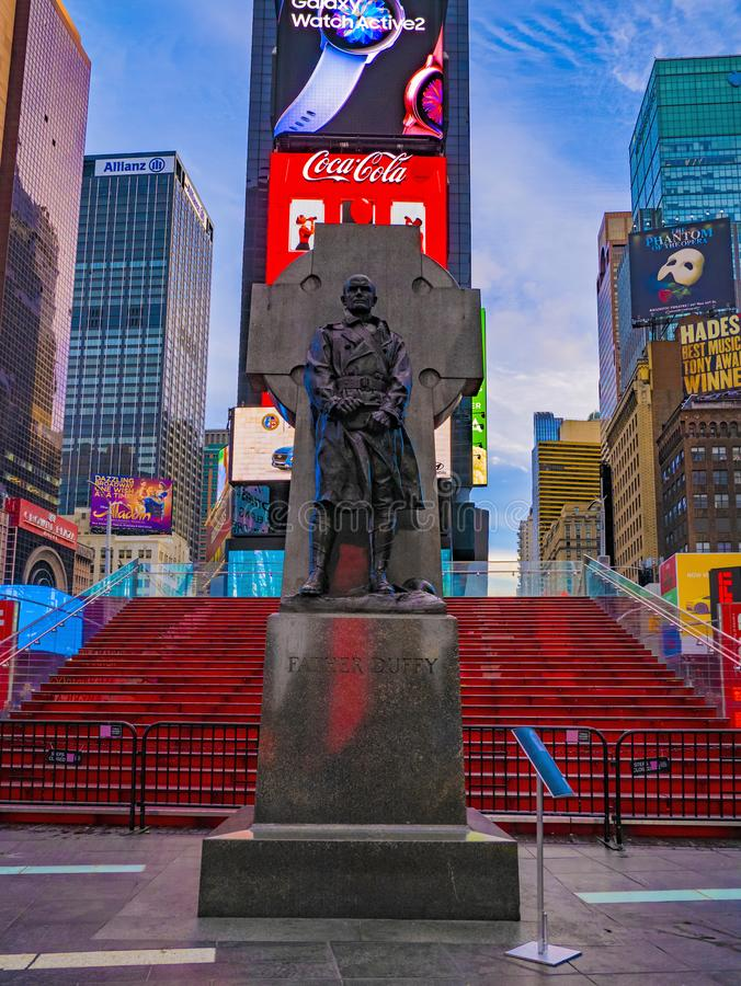 Fine Art America father duffy monument statue times square New York City USA royalty free stock image