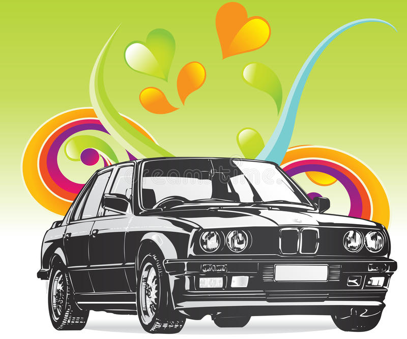 Fine Art BMW car stock illustration