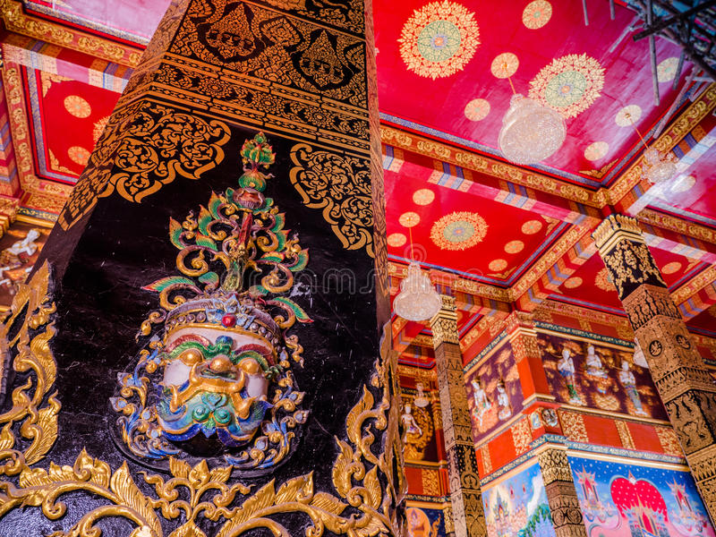 fine art inside the pagoda of Bang Tong temple royalty free stock photography