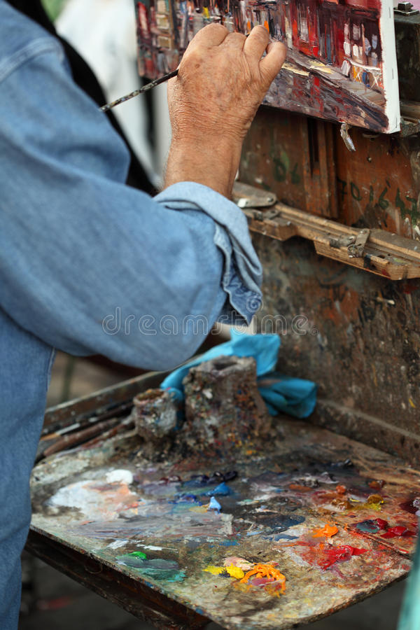 Fine art oil painting stock photo
