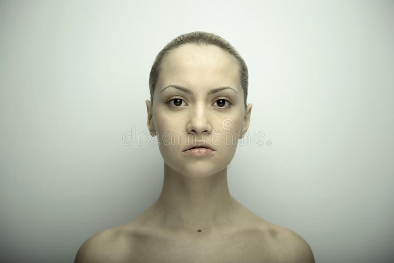 Fine art portrait of elegant girl royalty free stock images