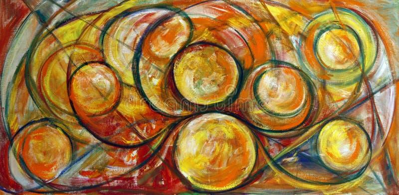 Fine Art Swirls Painting stock illustration