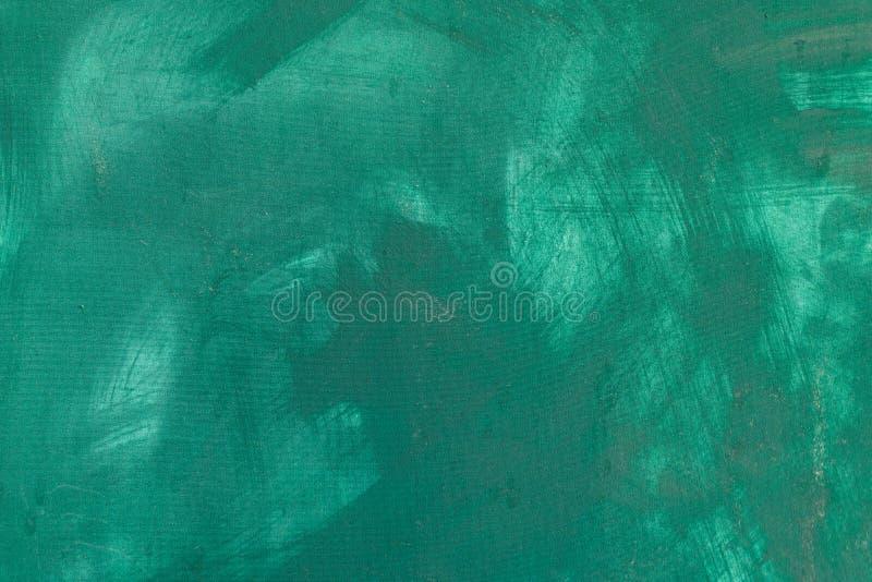 Fine astratta del fondo della pittura di colore verde su immagini stock