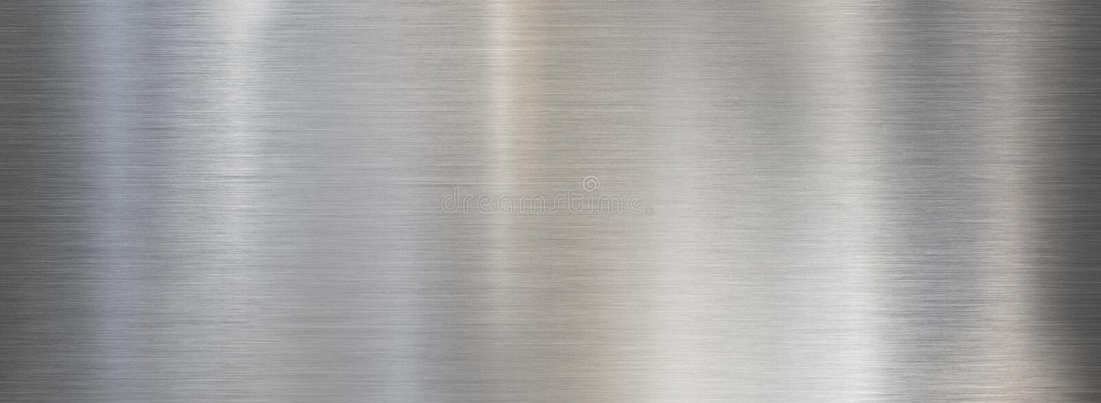 Fine brushed wide metal steel or aluminum plate stock photography