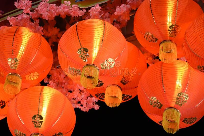 Fine cinese della lanterna di carta in su fotografie stock