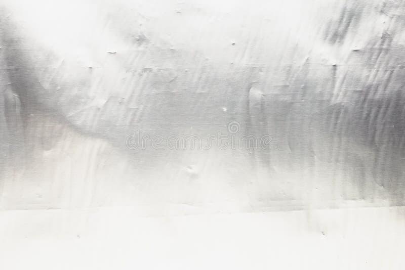 Fine d'acciaio d'argento di struttura della stagnola del metallo su, fondo brillante del cromo fotografia stock