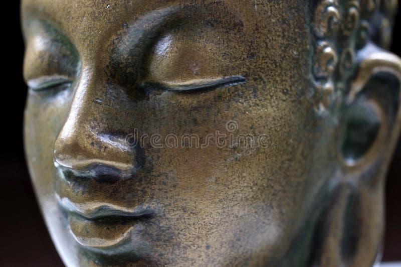 Fine del Buddha sul ritratto fotografie stock