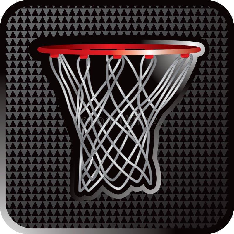 Fine del cerchio di pallacanestro in su illustrazione vettoriale