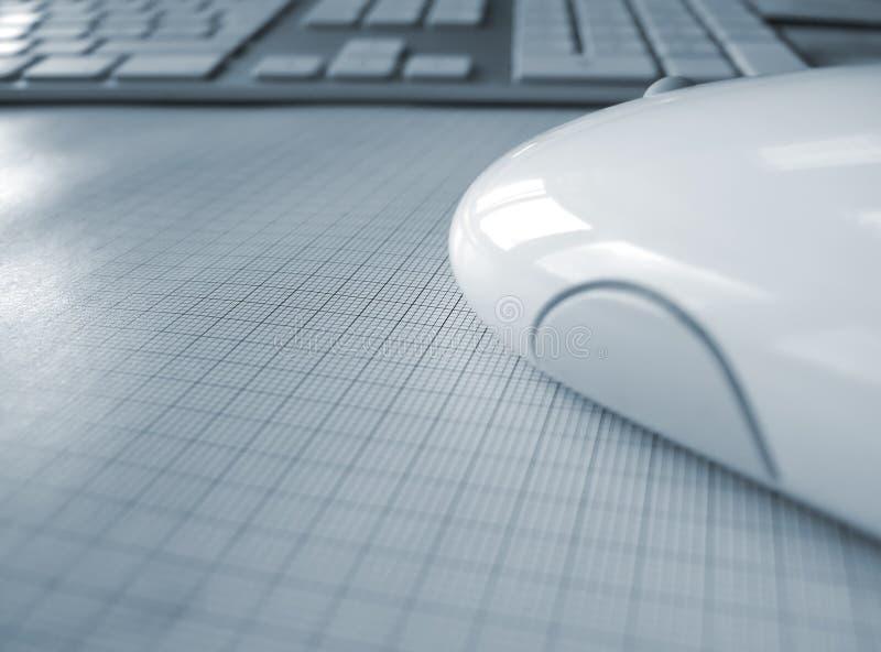 Fine del mouse del calcolatore alta e tastiera fotografia stock