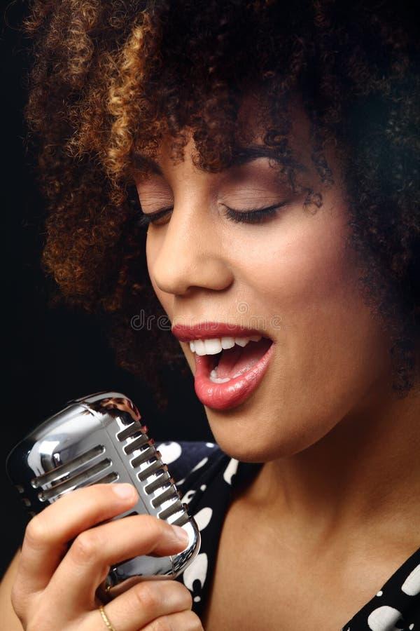 Fine del musicista di jazz in su fotografia stock