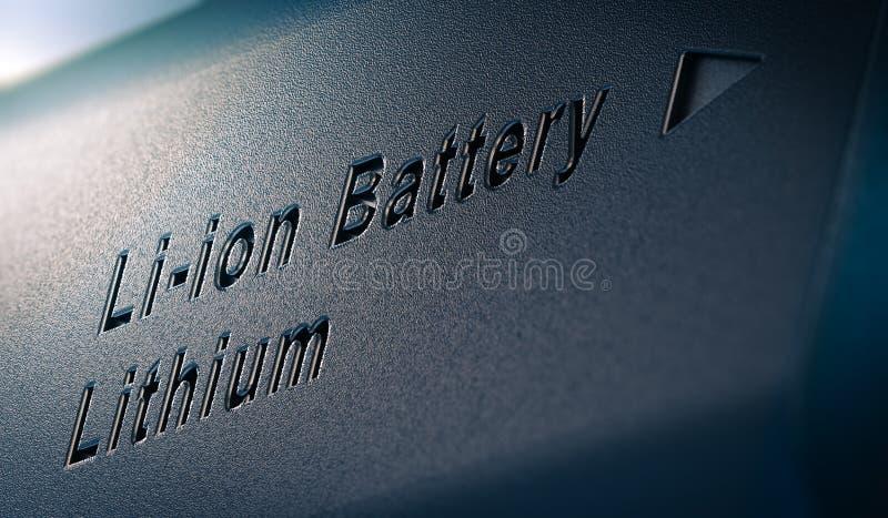fine del pacchetto della batteria al litio dello Li-ione su royalty illustrazione gratis