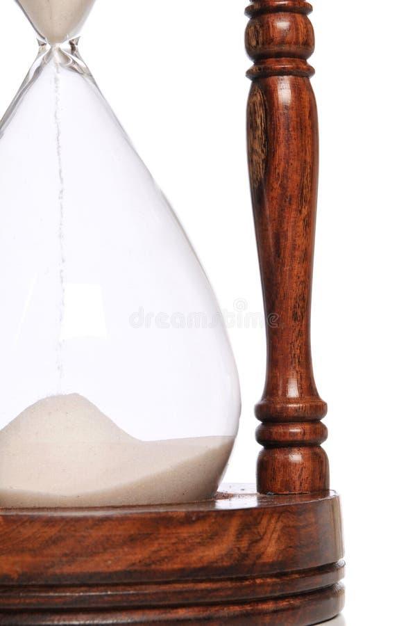 Fine del temporizzatore della sabbia in su immagini stock