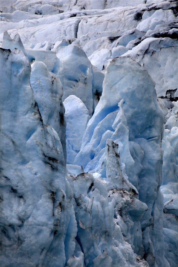 Fine dell'Alaska del ghiacciaio di Portage in su immagini stock