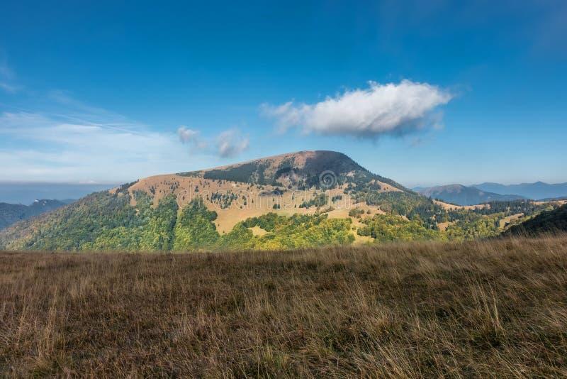 Fine dell'estate nelle montagne immagini stock