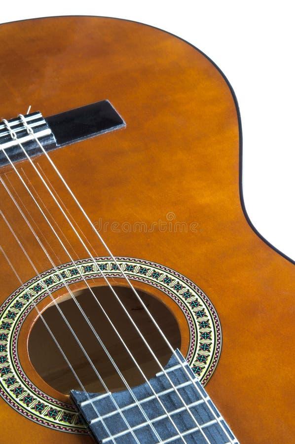 Fine della chitarra acustica in su immagine stock libera da diritti