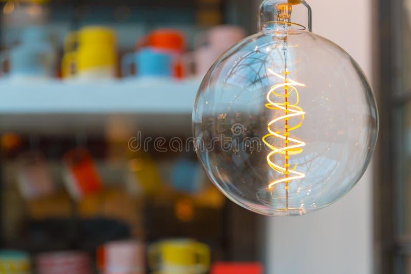 Fine della decorazione della lampadina su fotografie stock
