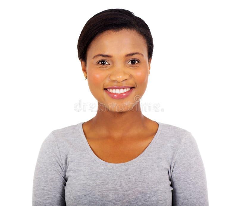 Fine della giovane donna in su immagini stock libere da diritti