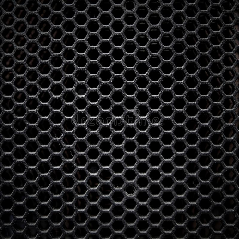 Fine della griglia anteriore del computer server immagine stock
