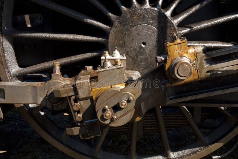 Fine della locomotiva di vapore in su immagini stock libere da diritti
