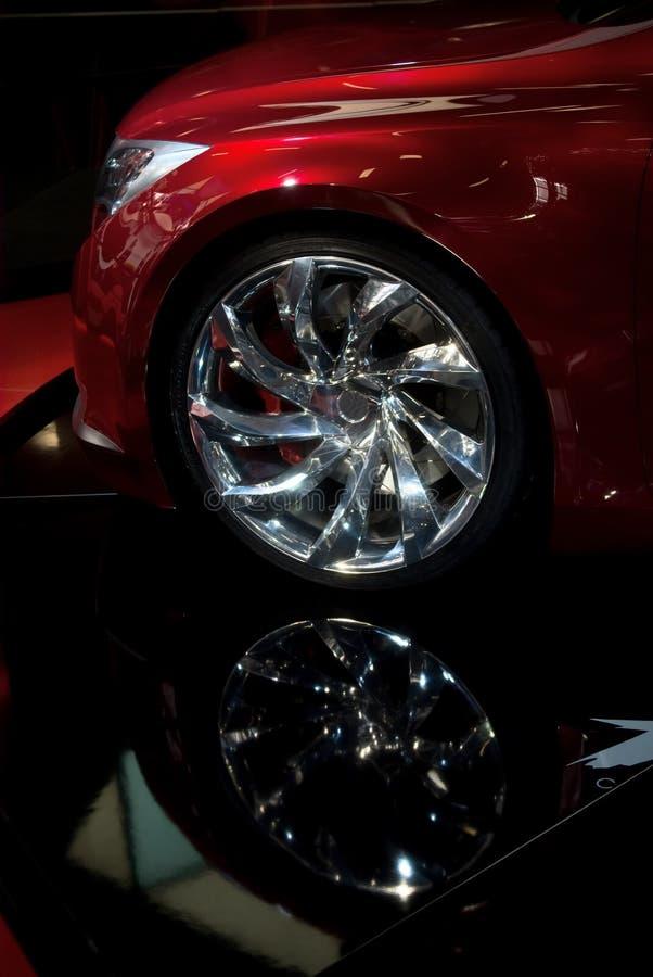 Download Fine Della Rotella Di Automobile In Su Fotografia Stock - Immagine di costoso, orlo: 3878770